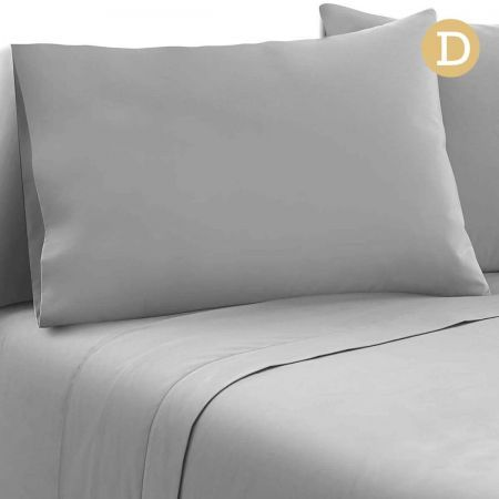 4 Piece Microfibre Sheet Set Double - Grey