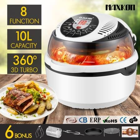 New 10L Low Fat  Air Fryer Convection Oven Cooker-White