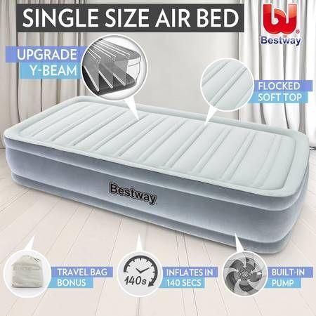 Bestway Inflatable Mattress Air Bed Built In Pump Single