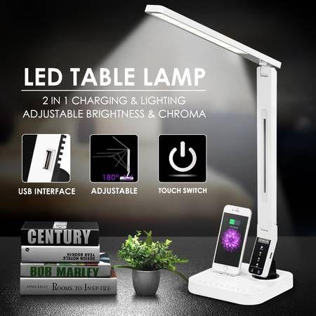 Led Desk Lamp With Iphone Docking Stationusb Charger Crazy Sales