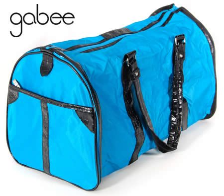 Gabee Travel Duffle Carry Bag - Converts to Fold Out Garment Bag - Blue