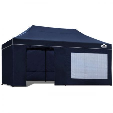 Instahut 3x6 Pop Up Gazebo Hut with Sandbags - Navy