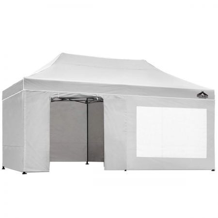Instahut 3x6 Pop Up Gazebo Hut with Sandbags - White