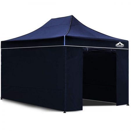 Instahut 3x4.5 Pop Up Gazebo Hut with Sandbags - Navy