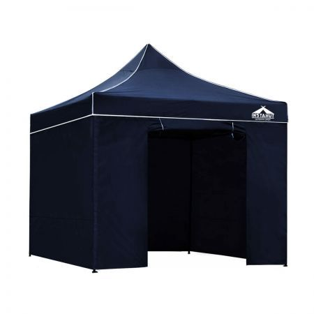 Instahut 3x3 Pop Up Gazebo Hut with Sandbags - Navy