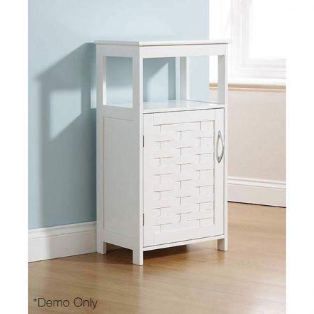 Weave Modern Bathroom Storage Floor Unit White Crazy Sales