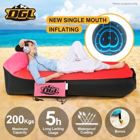 OGL 2nd Inflatable Bag Sofa Lounge Flat Bed & Pillow Shape