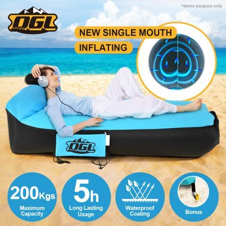 OGL 2nd Inflatable Air Bag Outdoor Camping Flat Bed & Pillow Shape