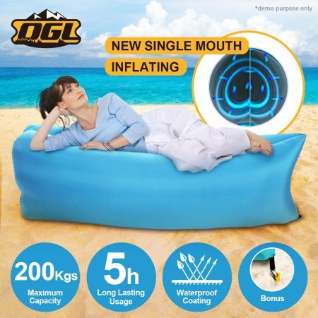 OGL 2nd Fast Inflatable Hangout Air Camping Bed-Banana Shape