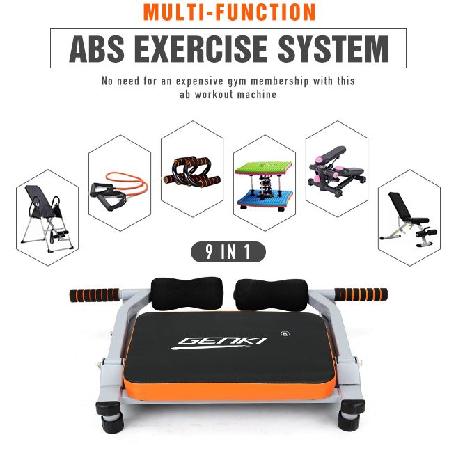 9 IN 1 Smart Body Fitness Training Portable Ab Machine Home GYM Fitness