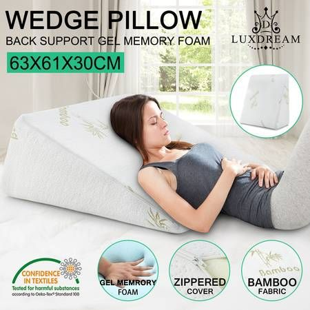 Luxdream Memory Foam and Cool Gel Wedge Pillow