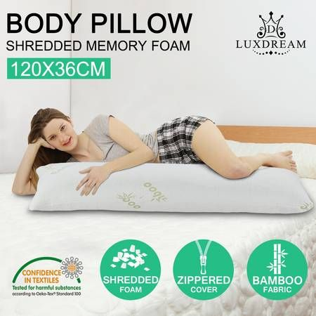 Luxdream Memory Foam Body Pillow Support Long Pillow Bamboo fabric cover