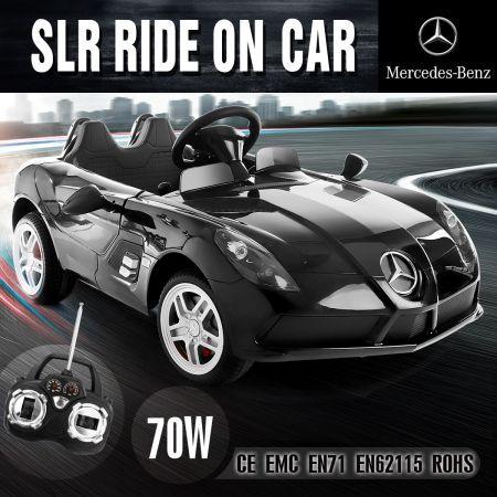 Delicieux Kids Licensed Mercedes Benz Convertible SLR Electric Ride On Car Black