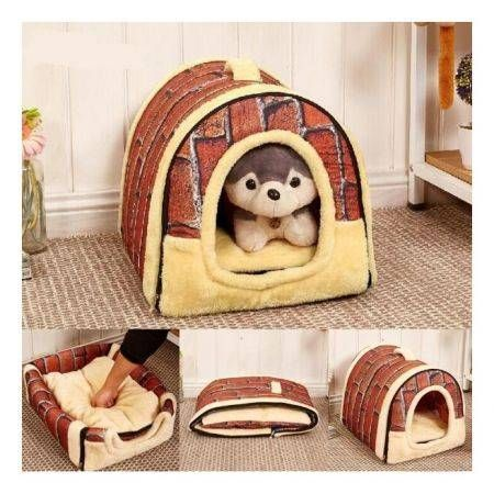 L Portable Foldable Small Pet House Cat Dog Bed Mats Kennel
