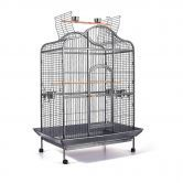 Pet Bird Cage with Stainless Steel Feeders with 5 Stainless Steel Feeders