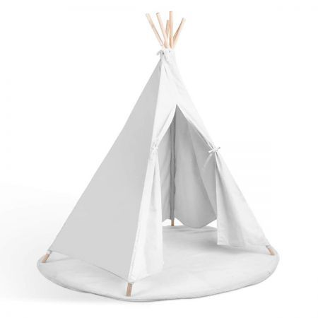 Kids 6 Pole Teepee Canvas Tent