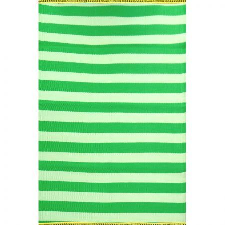 Stripes rug 150x240cm green cream crazy sales for Green and cream rugs