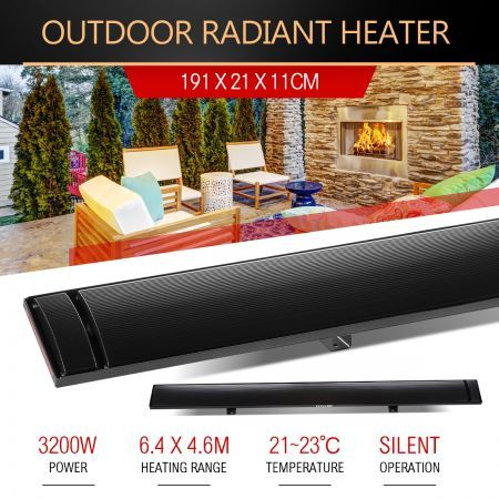 MAXKON 3200W Electric Outdoor Infrared Radiant Heater