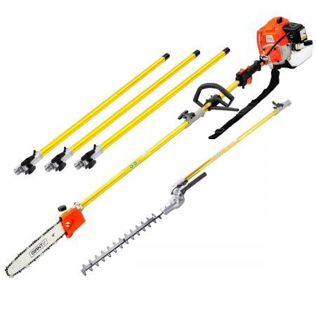 Giantz 75CC 2 IN 1 Gardening Tool & Hedge Trimmer Pruner Chainsaw Tree  Brush Cutter