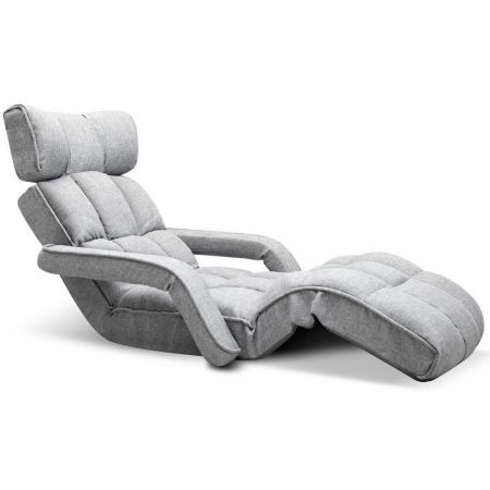 Single Size Adjustable Lounge Chair Sofa Bed Floor Recliner Chaise