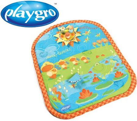 Playgro Pond Spinning Bugs Activity Playmat