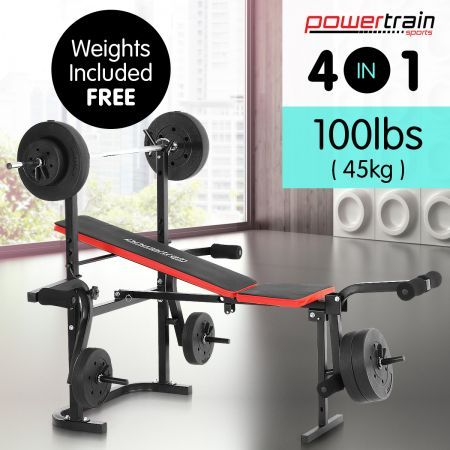 Powertrain Home Gym Bench Press 2810 Multi Gym With Weights Crazy