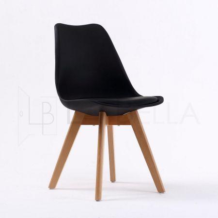 2x La Bella EAMES Replica Padded Seat DSW Dining Chair   Black