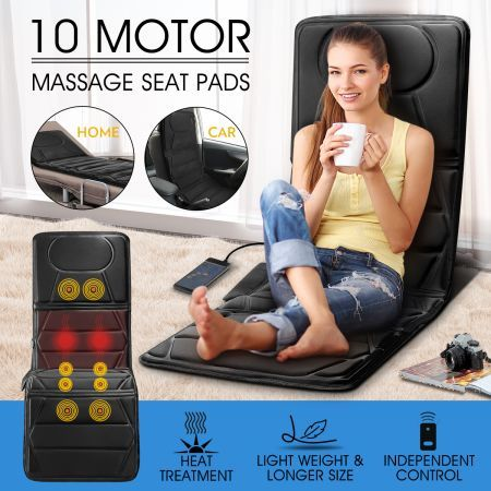 10 Motor  2 IN 1 Full Body Heat Car Seat Cushion Pad massager