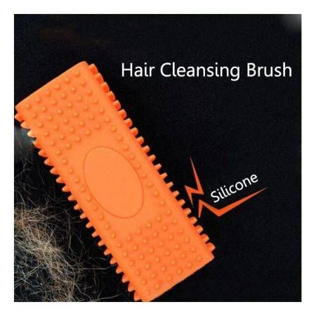 Silicone Magic Pet Hair Removal Brush Comb For Long Short Hair Pet Orange