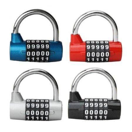 6992ec628259 5 Digit Dial Combination Code Number Lock Padlock For Luggage Zipper Bag Red