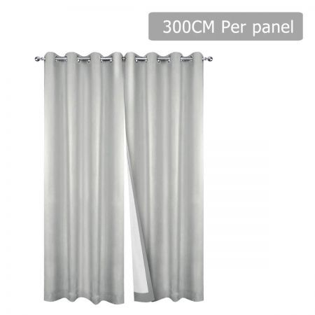 Set of 2 300CM Blockout Eyelet Curtain - Ecru
