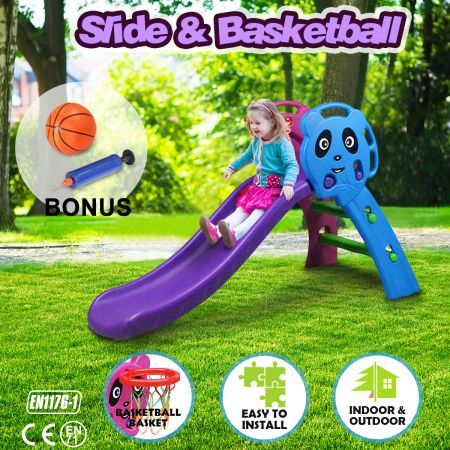 Kids Play Basketball Hoop Slide Set