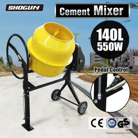 140L Portable Cement Sand Gravel Concrete Mixer 550W