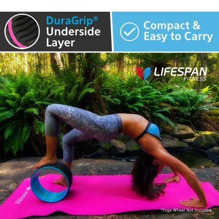 lifespan fitness yoga mat 1800 x 600 x 20mm  pink  crazy