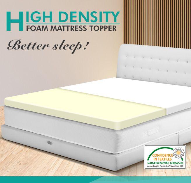Queen High Density Quality Foam Mattress Topper Fabric