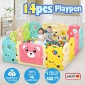 14 Sided Panel Baby Playpen Interactive Baby Room