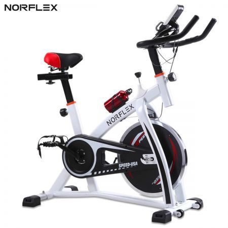 Norflex Spin Bike SPX200 Fitness Indoor Home Workout Gym - White