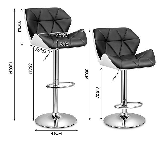 2x PU Leather Bar Stool Kitchen Dining Chair Padded Seat  : 144967939525extra from www.ebay.com.au size 655 x 599 jpeg 54kB