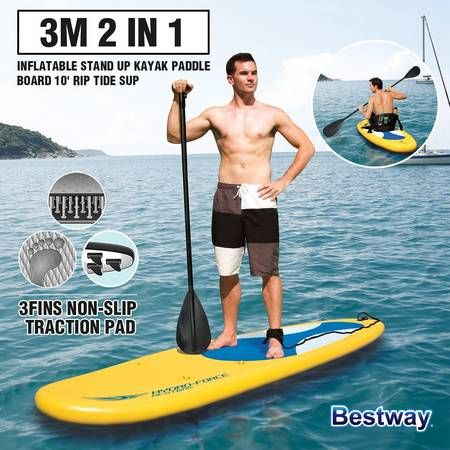 Bestway Inflatable Surfboard Hydro Force 10' Rip Tide SUP