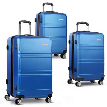 "Wanderlite 3 Pieces Hard-shell Luggage Set 20"", 24"" and 28"" - Navy"
