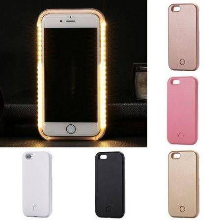 separation shoes f0328 23cf3 Luminous LED Light Up Flash Selfie Case Cover for Apple iPhone 6s 7 Plus 6  5S White