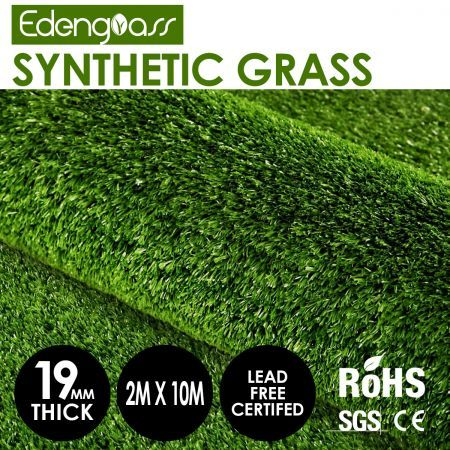Edengrass 2Mx10M 19MM Artificial Grass Synthetic Turf Fake Lawn