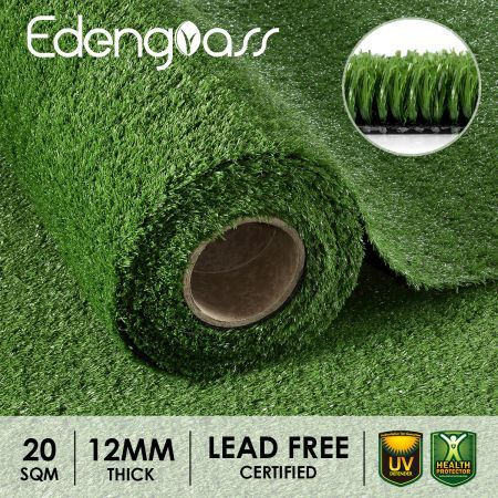 Edengrass 2Mx10M Artificial Grass 10mm Synthetic Turf Fake Lawn
