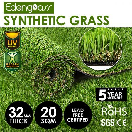 Edengrass 20SQM 30mm Artificial Grass Synthetic Turf Fake Lawn
