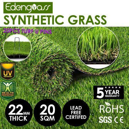 Edengrass 20SQM 22mm Artificial Grass Synthetic Turf Fake Lawn