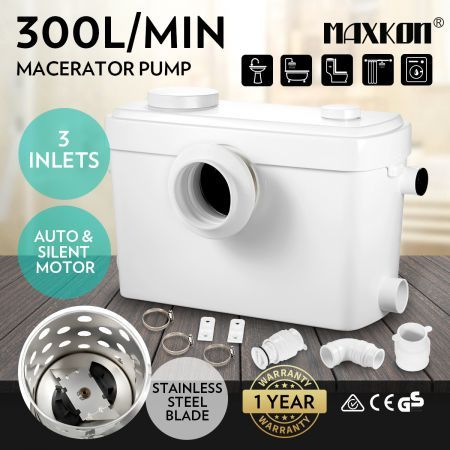 Macerator Sewage Pump Automatic Flush for Toilet Sink Shower Bathroom