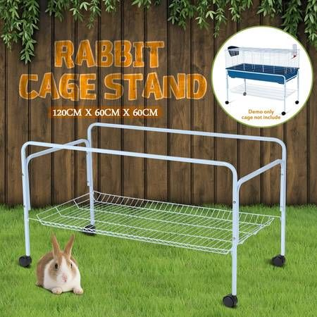 120cm rabbit cage stand guinea pig hutch wheel stand for Guinea pig stand