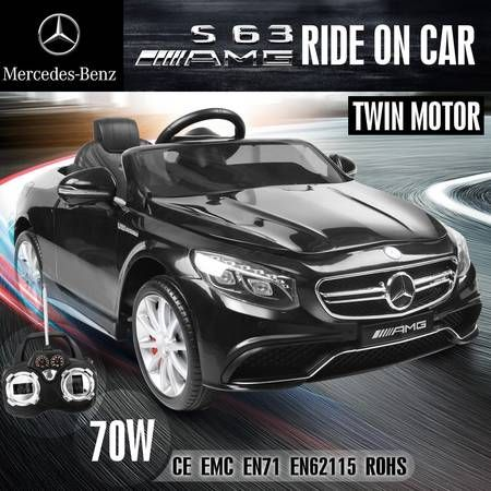 Licensed mercedes benz kids electric ride on car with r c for Mercedes benz kids 12 volt electric car