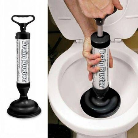 Drain Buster Plunger Cleaner Showers Toilet Sink Pump Hand Power Unclog Fix Tool