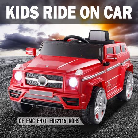 big kids electric ride on car 12v powered toy remote red